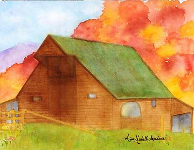 Appalachian Barn In Autumn Poster
