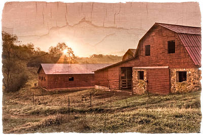 Appalachian Barns Poster by Debra and Dave Vanderlaan