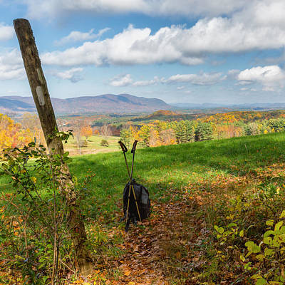 Appalachian Trail Hiker Square Poster by Bill Wakeley