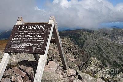 Appalachian Trail Mount Katahdin Poster
