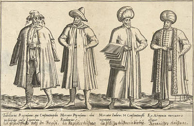 Apparel Merchants In Constantinople Around 1580 Istanbul Poster