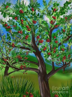 Apple Acres Poster by Christine Fournier