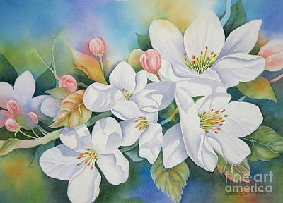 Apple Blossom Time Poster by Deborah Ronglien