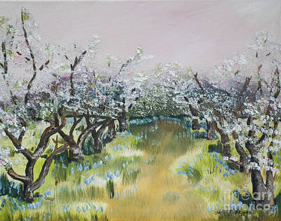 Apple Blossoms In Ellijay -apple Trees - Blooming Poster
