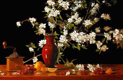 Apple Blossum Time Poster by Rick Fitzsimons