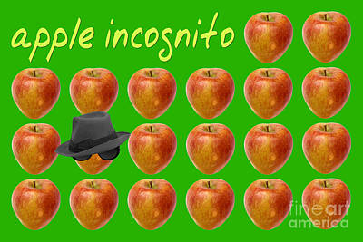Apple Incognito Poster by Natalie Kinnear