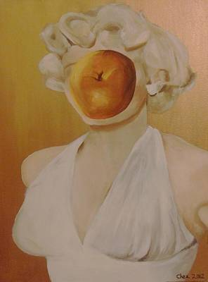 Poster featuring the painting Apple Of Her Eye by Cherise Foster