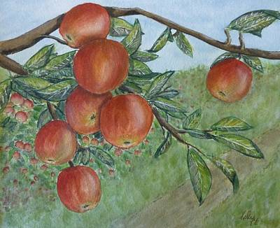 Poster featuring the painting Apple Orchard by Kelly Mills