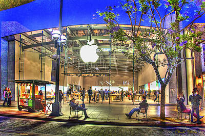 Apple Store - Santa Monica Poster by Chuck Staley