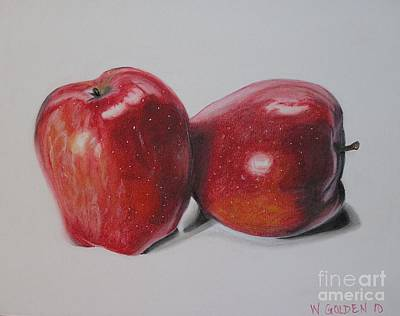 Poster featuring the pastel Apple Study by Wil Golden