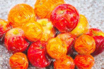 Apple Tangerine And Oranges Poster