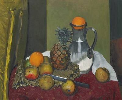 Apples And A Pineapple Poster by Felix Edouard Vallotton