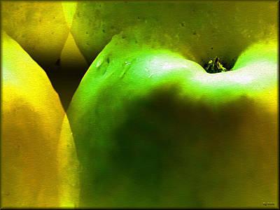 Poster featuring the digital art Apples by Daniel Janda