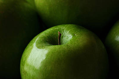 Poster featuring the photograph Apples Green by Lorenzo Cassina