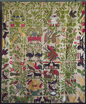 Applique Quilt Top, C1860 Poster by Granger