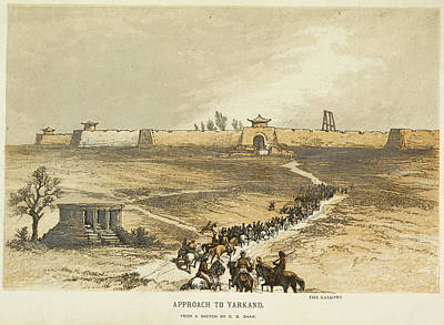 Approach To Yarkland. The Gallows Poster by British Library