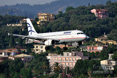Approaching Corfu Airport Poster by George Atsametakis