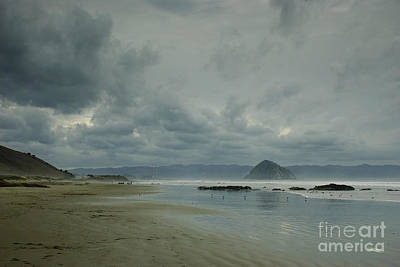 Approaching Storm - Morro Rock Poster