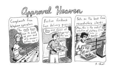 Approval Heaven: Compliments From Telephone Poster by Roz Chast