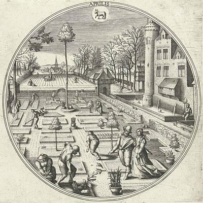 April, Adriaen Collaert, Hans Bol, Hans Van Luyck Poster by Adriaen Collaert And Hans Bol And Hans Van Luyck