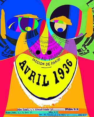 April In Paris 1936 Pop Art Poster by Cliff Wilson