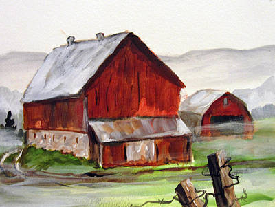 Poster featuring the painting Apulia Farm Barn by Carol Hart
