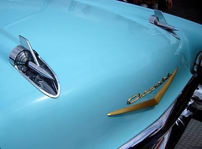 Aqua Chevy Poster by Don Struke
