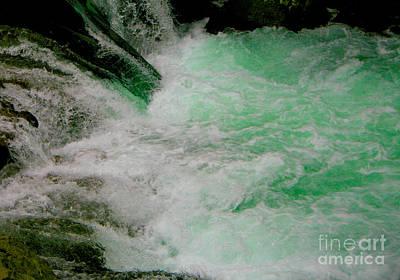 Aqua Falls Poster by Rich Collins