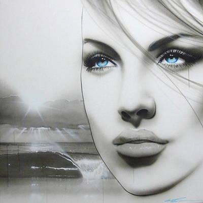 Portrait - ' Aqua Marine ' Poster by Christian Chapman Art