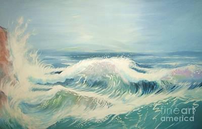Aqua Sea Scape Poster