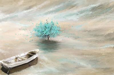 Aqua Tree Of Life Poster