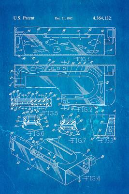 Aquarium Bath Patent Art 1982 Blueprint Poster