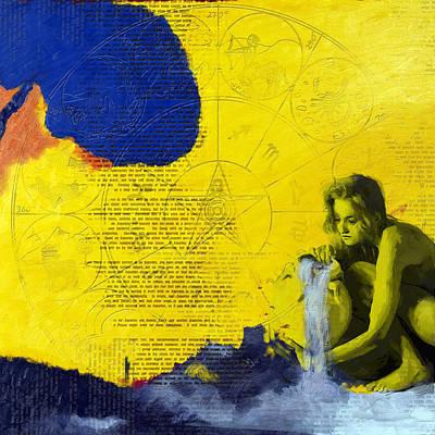 Aquarius Abstract Poster