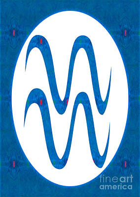 Aquarius And Throat Chakra  Abstract Spiritual Artwork By Omaste Poster by Omaste Witkowski
