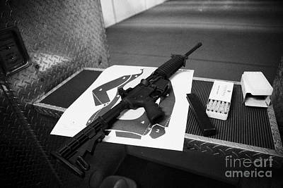 Ar-15 Semi Automatic Rifle At A Gun Range In Florida Poster by Joe Fox