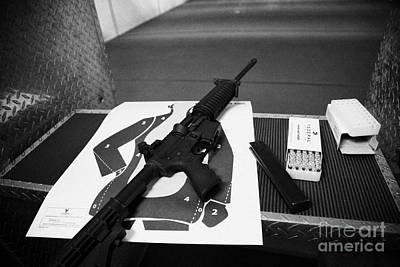 Ar-15 Semi Automatic Rifle At A Gun Range In Florida Usa Poster by Joe Fox