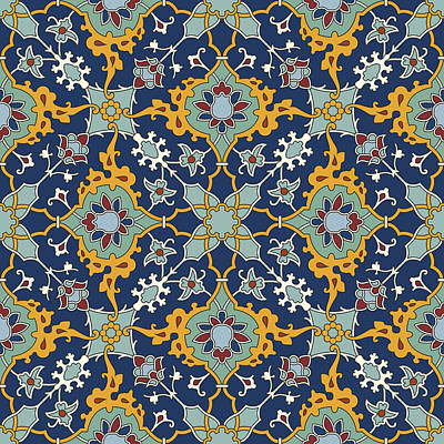 Arabesque Seamless Pattern 04 Poster