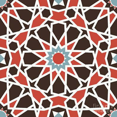 Arabesque Seamless Pattern 06 Poster