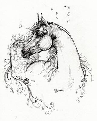 Arabian Horse Drawing 8 Poster
