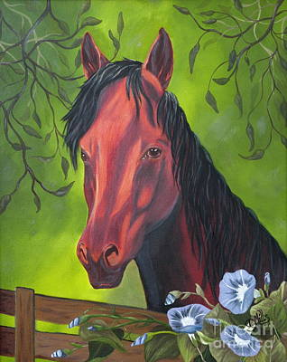 Poster featuring the painting Arabian Horse by Terri Mills