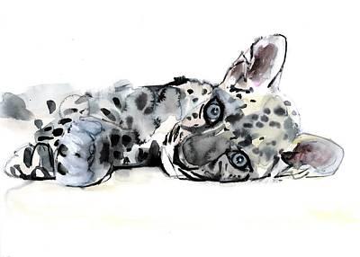 Arabian Leopard Cub Poster