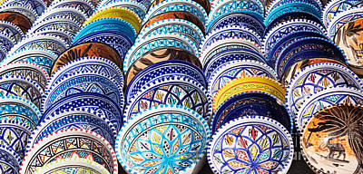 Arabic Colorful Pottery  Poster
