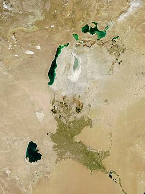 Aral Sea Poster by Nasa/jeff Schmaltz