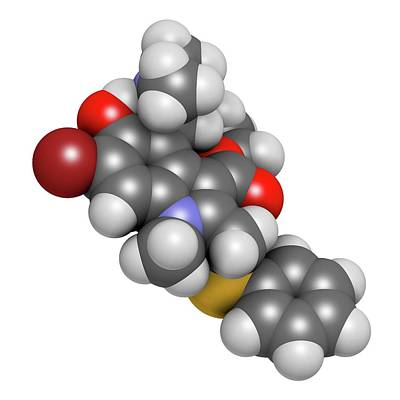 Arbidol Influenza Drug Molecule Poster by Molekuul