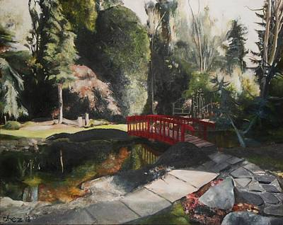 Poster featuring the painting Arbour Bridge by Cherise Foster