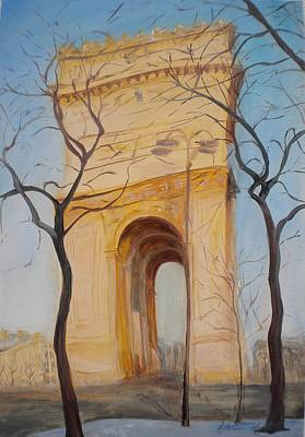 Arc De Triomphe, 2010 Poster by Antonia Myatt
