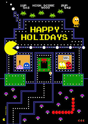 Arcade Holiday Poster by Shawna Rowe