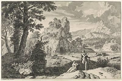 Arcadian Landscape With Ruins, Print Maker Johannes Glauber Poster