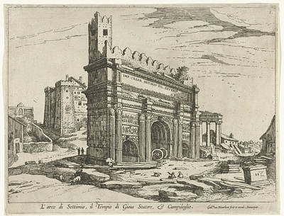 Arch Of Septimius Severus And The Capitol Poster