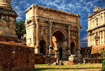 Arch Of Septimius Severus Poster by Anthony Dezenzio